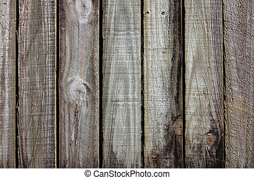 old timber fence
