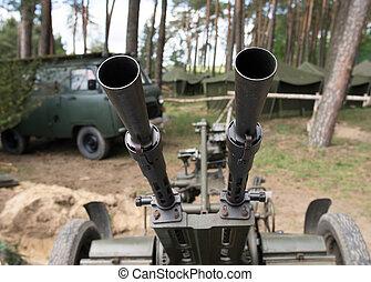 Old time Anti aircraft machine gun