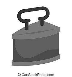 old time iron antique  metal element. vector illustration