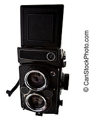 Old time photo camera