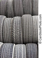Old tires background texture pattern