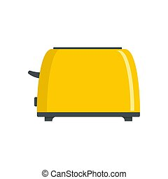 Old toaster icon, flat style
