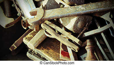 old tools rust for sale in the antique shop