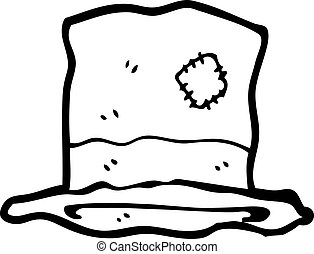 old top hat cartoon