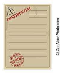 Old Top Secret Document