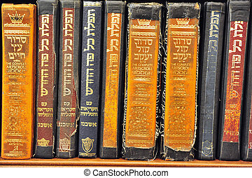 Old Torah books in the Wailing Wall in the Jerusaelm old...