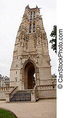 Old tower in Paris - Tour Saint Jacques