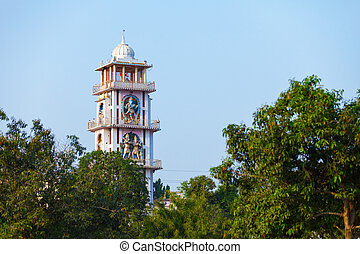 Old tower in the town of Pushkar, India, Rajasthan