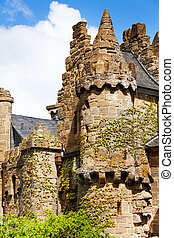Old towers and walls of Lowenburg, Kassel Germany -...