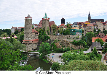 Old Town and Spree river in Bautzen, Germany