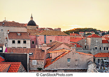 Old town and St Blaise church Dubrovnik