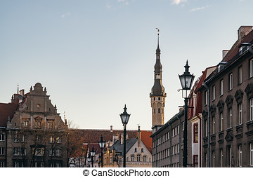 Old town and townhall of Tallinn city