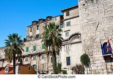 Old Town architecture in Split, Croatia