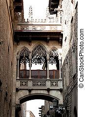 Old Town, Barri Gotic, Barcelona, Catalonia, Spain, Europe. ...