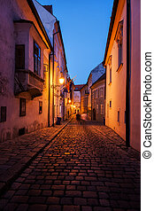 Old Town by Night in Bratislava City