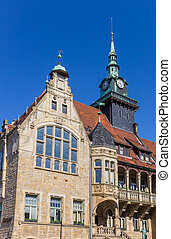 Old town hall at the market square of Buckeburg