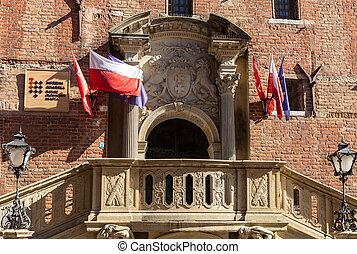 Old Town Hall in Gdansk. Poland
