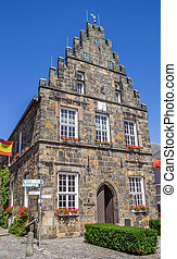 Old town hall in the center of Schuttorf