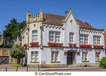 Old town hall in the historical center of Bad Bentheim