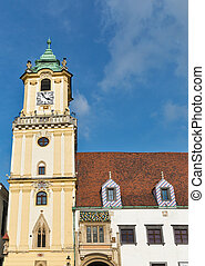 Old Town Hall on Main square in Bratislava, Slovakia.