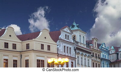 Old town houses  in Prague