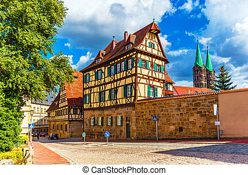 Old Town in Bamberg, Germany - Scenic summer view of the Old...
