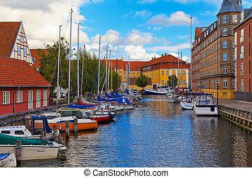 Old Town in Copenhagen, Denmark - Scenic summer view of the...