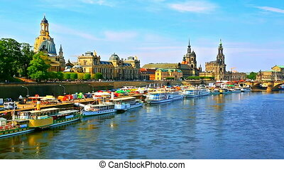 Old Town in Dresden, Germany - Scenic summer view of the Old...