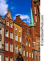Old town in Gdansk Poland