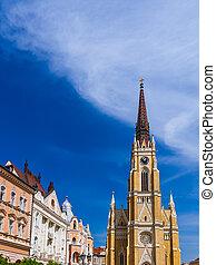 Old town in Novi Sad - Serbia - architecture travel...