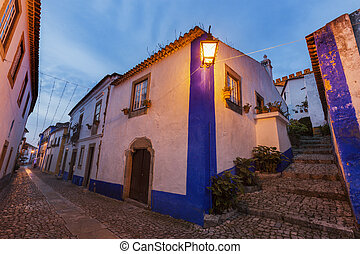 Old Town in Obidos, Portugal