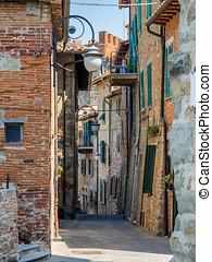 Old town in Passignano sul Trasimeno Umbria, Italy