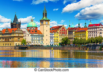 Old Town in Prague, Czech Republic - Scenic summer view of...