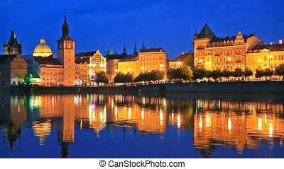 Old Town in Prague, Czech Republic - Scenic summer night...