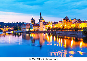 Old Town in Prague, Czech Republic - Scenic summer sunset...