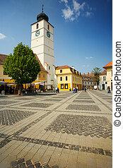 Old town in Romania
