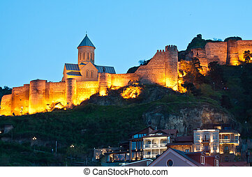 old town in Tbilisi by night