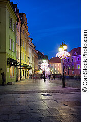 Old Town in Warsaw at Night