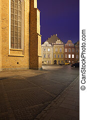Old Town in Warsaw by Night