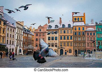 Warsaw, Poland. - Old Town in Warsaw, Poland.