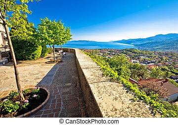 Old town Kastav and Kvarner bay view, Opatija riviera of ...