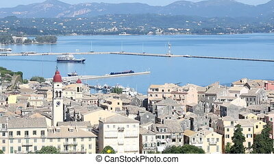 old town Kerkyra and port Corfu