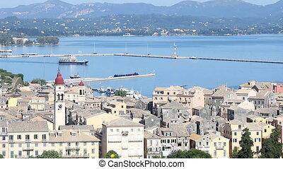 old town Kerkyra and port Corfu