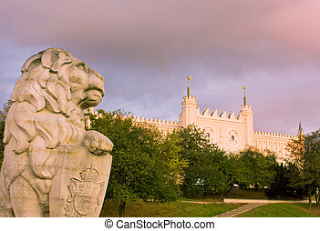 Lublin medieval castle at sunset time, Poland
