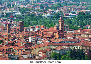 Old town of Alba, Italy.