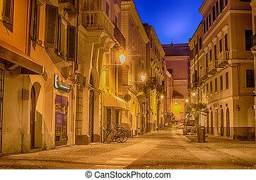 Old Town of Alghero, Sardinia Island, Italy at night