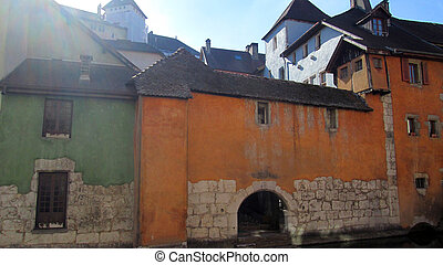 Old town of annecy, savoy, france - Medieval building in Old...