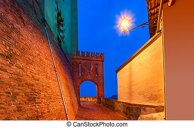 Old town of Barolo, Italy.