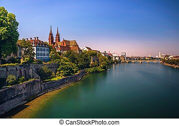 Old Town of Basel in Switzerland