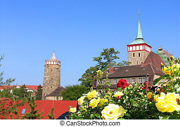 Old Town of Bautzen in the summer.